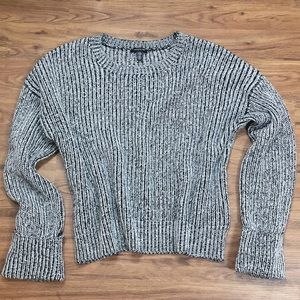 Kenneth Cole Black White Ribbed Sweater